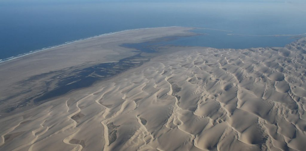 Barchanoid dunes along the southern Namibian coast