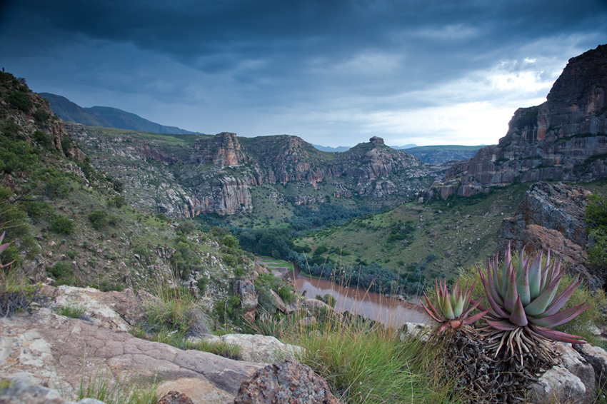 The Orange River near its source in Lesotho