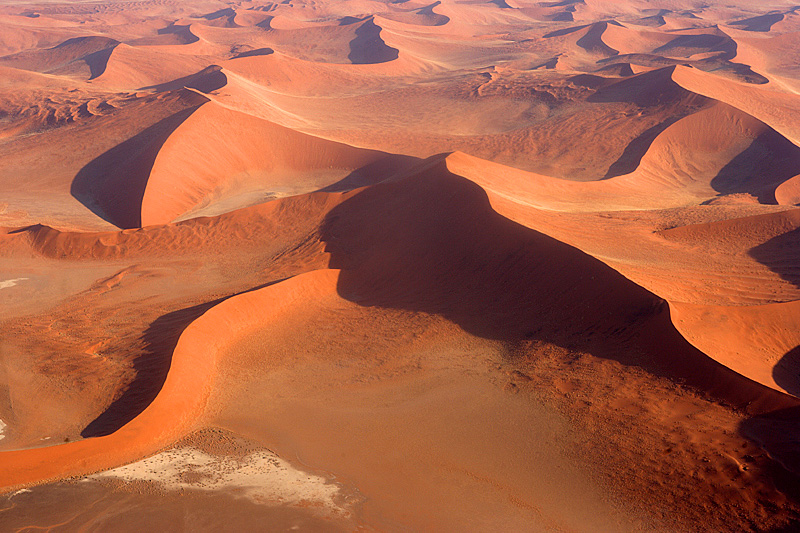 Red dunes of the Namib Sand Sea.